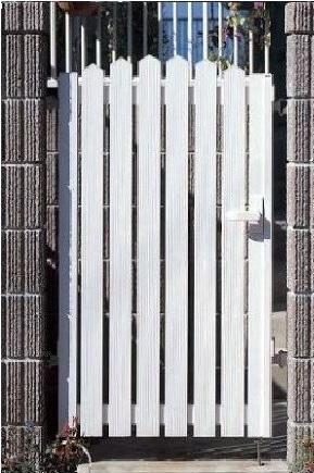 YKKAPガーデンエクステリア 門扉 シンプレオ A1型 片開き[門柱内開きセット]:[幅600mm×高1000mm]