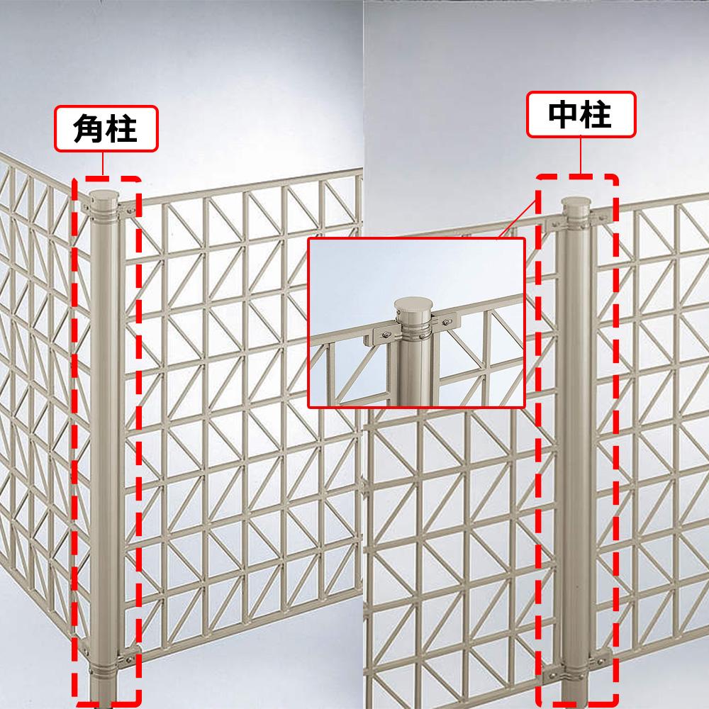 YKKAPオプション ガーデンエクステリア フェンス シャローネフェンス SM02型:間仕切柱 中柱・角柱 Φ55×1023