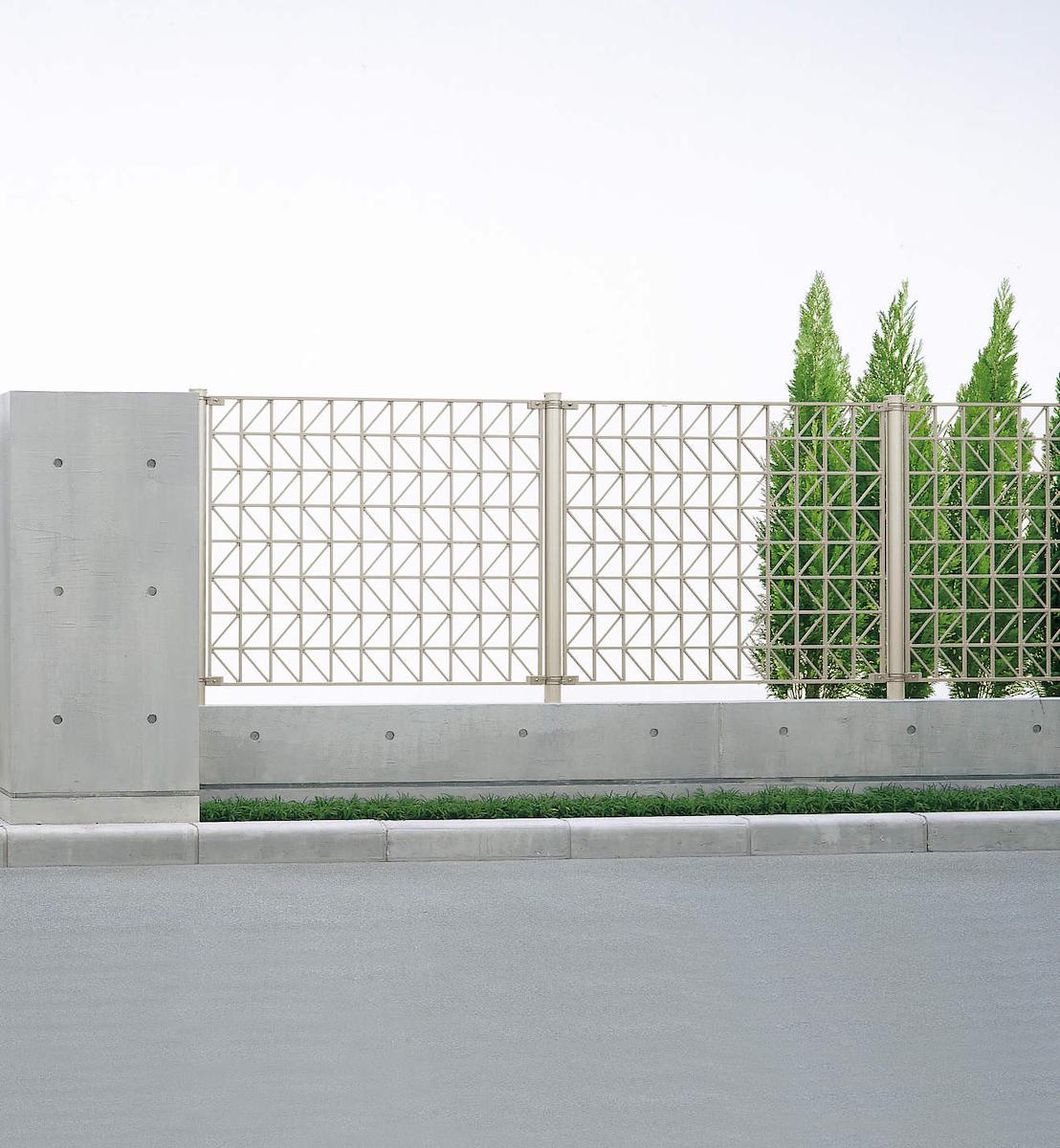 YKKAPガーデンエクステリア フェンス シャローネ SM02型 連結用セット品:[幅1200mm×高1000mm]