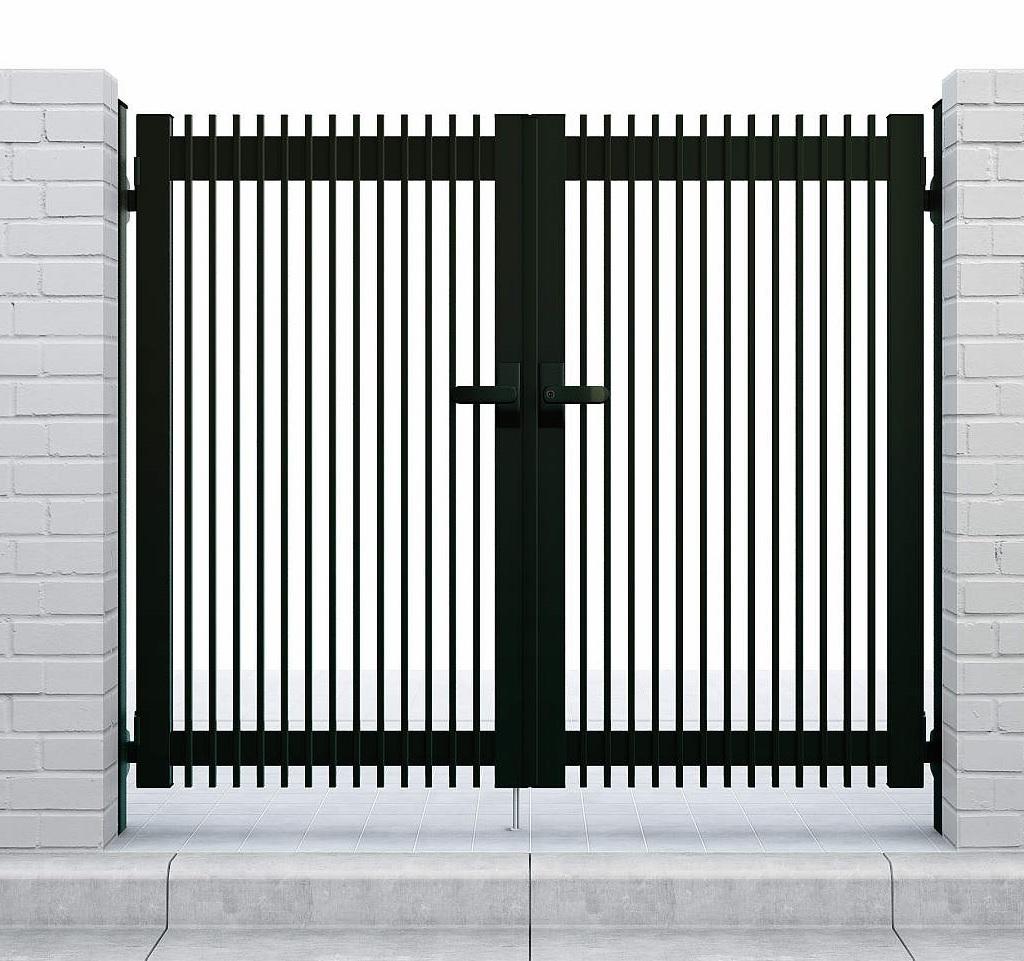 YKKAPガーデンエクステリア 門扉 シンプレオ T1型 両開き[門柱内開きセット]:[幅800mm×高1000mm]