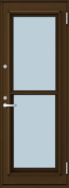 YKKAP勝手口 通風ドア フレミングJ仕様 複層ガラス[2シリンダー仕様] 一本格子[2×4工法]:[幅730mm×高1845mm]