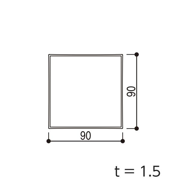 YKKAPガーデンエクステリア 汎用形材 枕木材・キャップ:□90×90 長さ:5920(アルミ色) 【YKK】【YKK枕木材】【キャップ】【エクステリア】【外構】【間仕切り】【隣地境界】【アルミ柱】