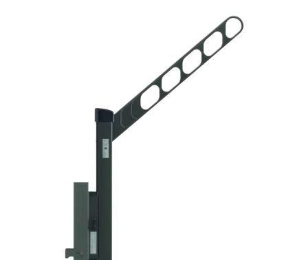 YKKAPオプション ウォールエクステリア バルコニー ルシアス:収納式物干しセット[捨て柱タイプ] 2本入り