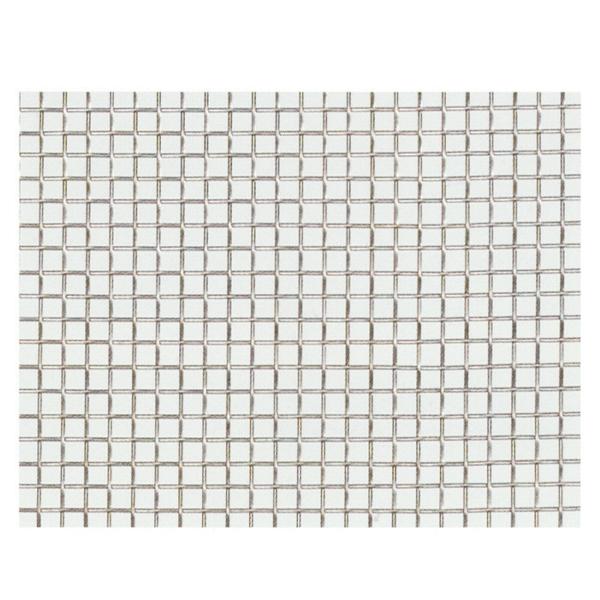 産業用金網 ステンレス平織金網 線径0.45mm:24メッシュ 開目0.61mm[幅1m×長さ8m]【ステンレス】【金網】