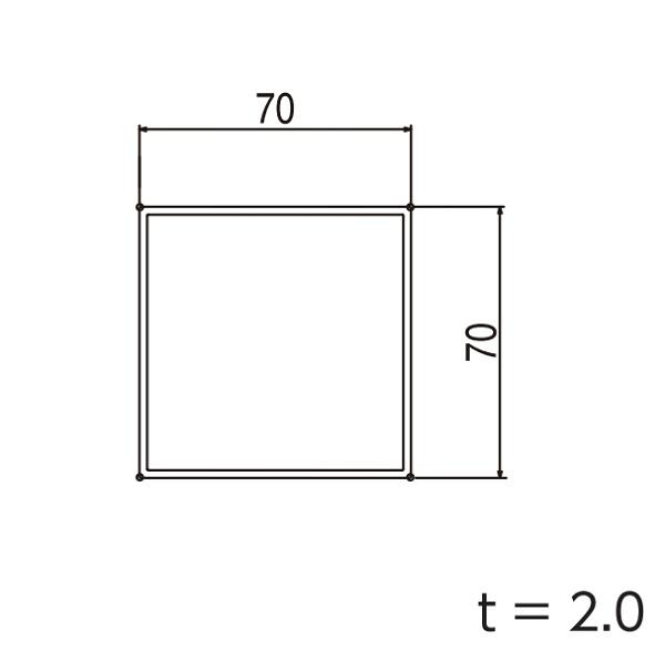 YKKAPガーデンエクステリア 汎用形材 柱材:□70×70 長さ:3970(アルミ色) 3850(木調色)【YKK】【YKK柱材】【支柱】【エクステリア】【外構】【アルミ角材】【間仕切り】【隣地境界】
