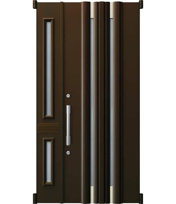 YKKAP玄関 リフォーム玄関ドア 取替玄関ドア デュガードMD型[DH=23用] 親子[ポスト付]:01型[親扉幅:891mm・子扉幅:288mm×ドア高:2325mm]