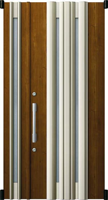 YKKAP玄関 リフォーム玄関ドア 取替玄関ドア デュガードMD型[DH=23用] 親子[ポスト無]:01型[親扉幅:891mm・子扉幅:288mm×ドア高:2325mm]