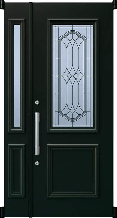 YKKAP玄関 リフォーム玄関ドア 取替玄関ドア デュガードMD型[DH=23用] 親子[ポスト無]:52型[親扉幅:891mm・子扉幅:288mm×ドア高:2325mm]