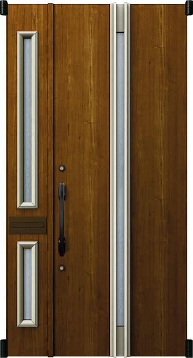 【爆売り!】 デュガードMD型[DH=20用] YKKAP玄関 親子[ポスト付]:05型[親扉幅:891mm・子扉幅:288mm×ドア高:2000mm]:ノース&ウエスト 取替玄関ドア リフォーム玄関ドア-木材・建築資材・設備