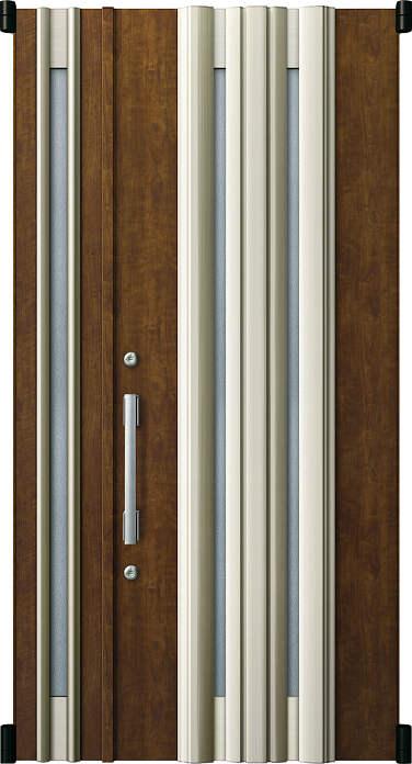 YKKAP玄関 リフォーム玄関ドア 取替玄関ドア デュガードMD型[DH=20用] 親子[ポスト無]:01型[親扉幅:891mm・子扉幅:288mm×ドア高:2000mm]
