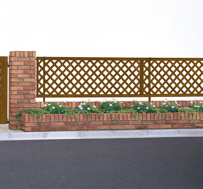 YKKAPガーデンエクステリア フェンス スタンダード 2型本体:T100[幅1975mm×高1000mm]【YKK】【YKKフェンス】【アルミフェンス】【境界】【仕切り】【柵】【ガーデン】【花壇】【ガーデニング】