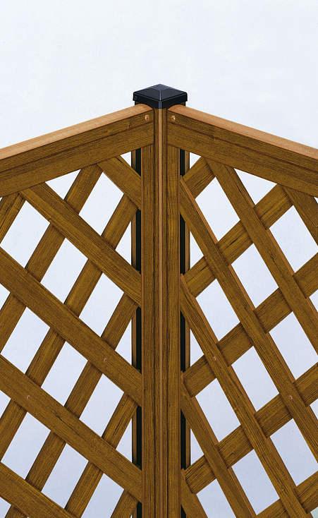YKKAPガーデンエクステリア フェンス スタンダードシステム ブロック建て施工:角柱 T80[高800mm]【YKK】【YKKフェンス】【アルミフェンス】【境界フェンス】【仕切り】【柵】【ガーデン】【目隠し】