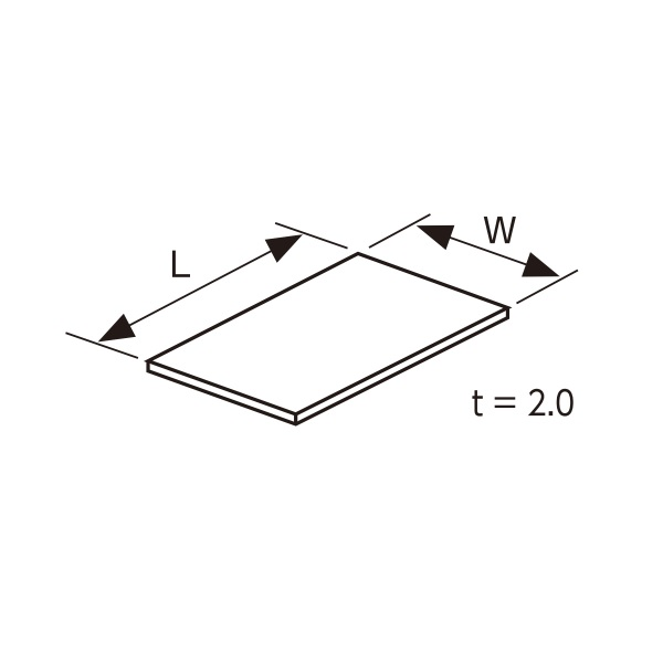 YKKAPガーデンエクステリア 汎用部品 ポリカーボネート板(ヴェスタ-シリーズ):ポリカーボネート板 フラット型 寸法(mm)L=3025.8、W=439、奥行10尺