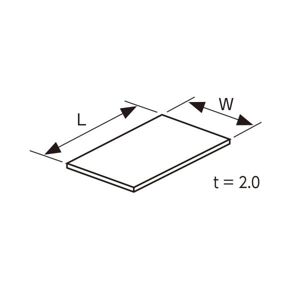 YKKAPガーデンエクステリア 汎用部品 ポリカーボネート板(ヴェスタ-シリーズ):熱線遮断ポリカーボネート板 フラット型 寸法(mm)L=1807.3、W=984、奥行6尺