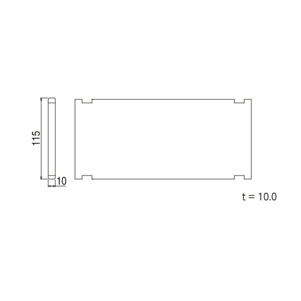 YKKAPガーデンエクステリア 汎用形材 アングルピース・エクステリア部品:パネル(2枚入り) 外形寸法115×10 長さ1990