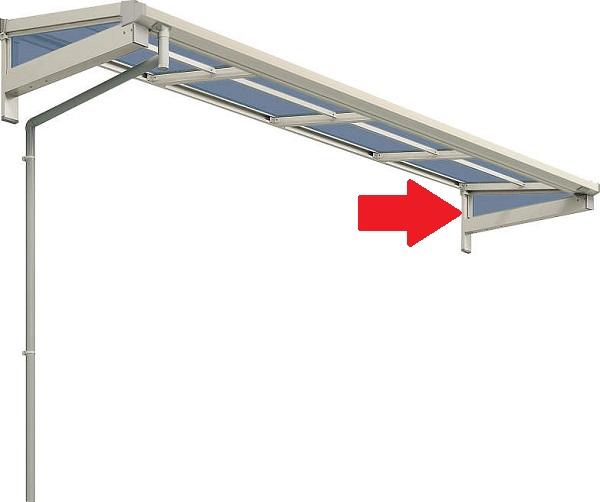 YKKAPオプション ウォールエクステリア テラス屋根 ソラリア:屋根妻パネル 奥行:2尺[570mm] フラット型 0.5間~2間用 強度:600N/