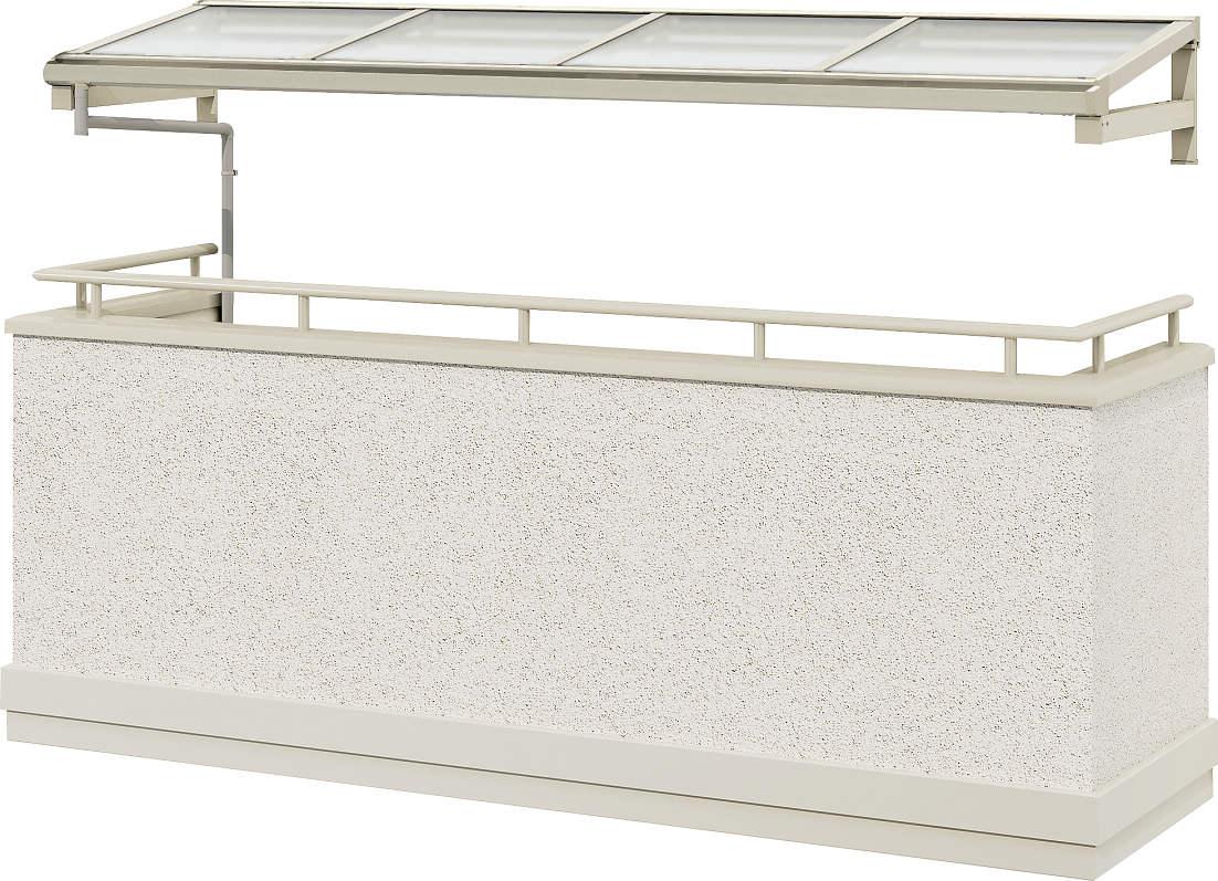 YKKAPウォールエクステリア テラス屋根 持ち出し屋根ソラリア 600N/[フラット型][関東間] 四尺[奥行:1170mm]:単体タイプ[幅3640mm]【YKK】【持ち出し屋根】【ソラリア】【屋根】