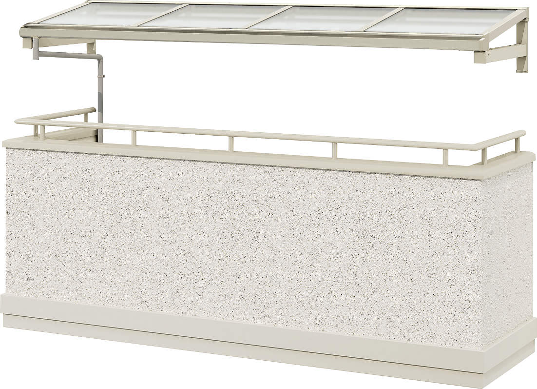 YKKAPウォールエクステリア テラス屋根 持ち出し屋根ソラリア 1500N/[フラット型][関東間] 三尺[奥行:870mm]:単体タイプ[幅2730mm]【YKK】【持ち出し屋根】【ソラリア】【屋根】
