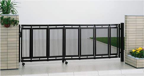 YKKAPガーデンエクステリア ゲート 伸縮ゲート エクスライン伸縮ゲート2型 片開き:[幅4000mm×高1100mm]