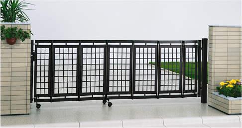 YKKAPガーデンエクステリア ゲート 伸縮ゲート エクスライン伸縮ゲート3型 片開き:[幅3100mm×高1100mm]
