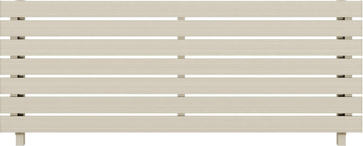YKKAPガーデンエクステリア フェンス ルシアスフェンス H02型(横板格子) アルミ色:[幅1975mm×高600mm]【YKK】【YKKフェンス】【アルミフェンス】【境界フェンス】【仕切り】【柵】【防犯】【目隠し】【庭廻り】