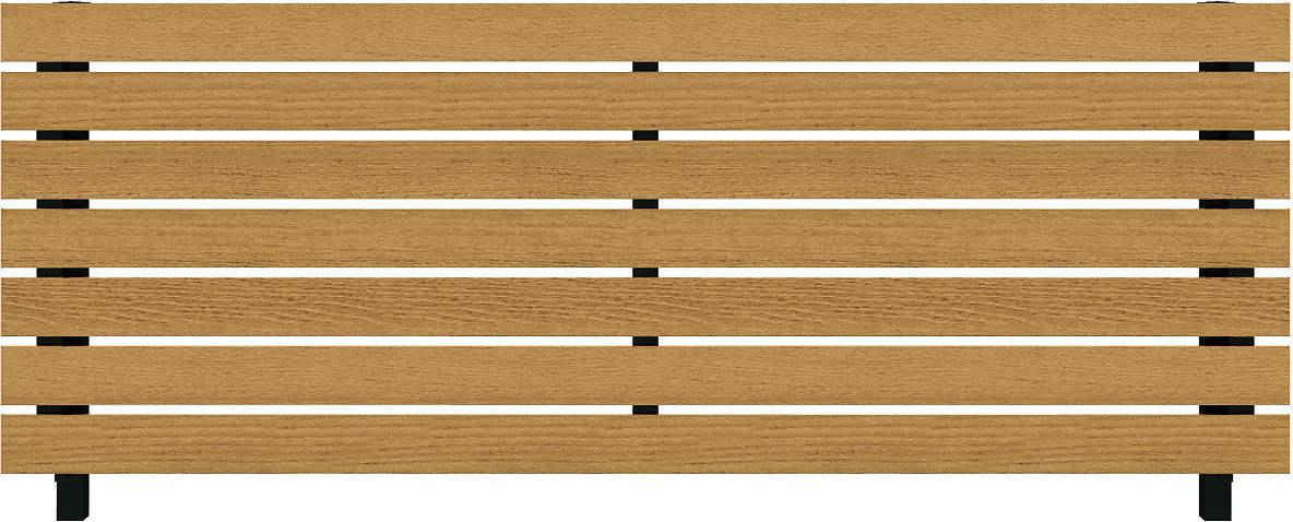 YKKAPガーデンエクステリア フェンス ルシアスフェンス H02型 横板格子 木調色 幅1975mm×高1200mm YKK YKKフェンス アルミフェンス 境界フェンス 仕切り 柵 防犯 目隠し 庭廻り