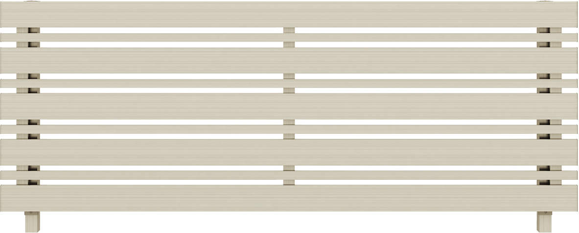 YKKAPガーデンエクステリア フェンス ルシアスフェンス H03型(横板格子+細横格子) アルミ色(細横格子同色):[幅1975mm×高1000mm]【YKK】【YKKフェンス】【アルミフェンス】【境界フェンス】【仕切り】【柵】【防犯】【目隠し】【庭廻り】