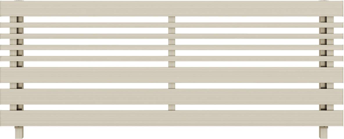 YKKAPガーデンエクステリア フェンス ルシアスフェンス H04型(横板格子+細横格子) アルミ色(細横格子同色):[幅1975mm×高800mm]【YKK】【YKKフェンス】【アルミフェンス】【境界フェンス】【仕切り】【柵】【防犯】【目隠し】【庭廻り】