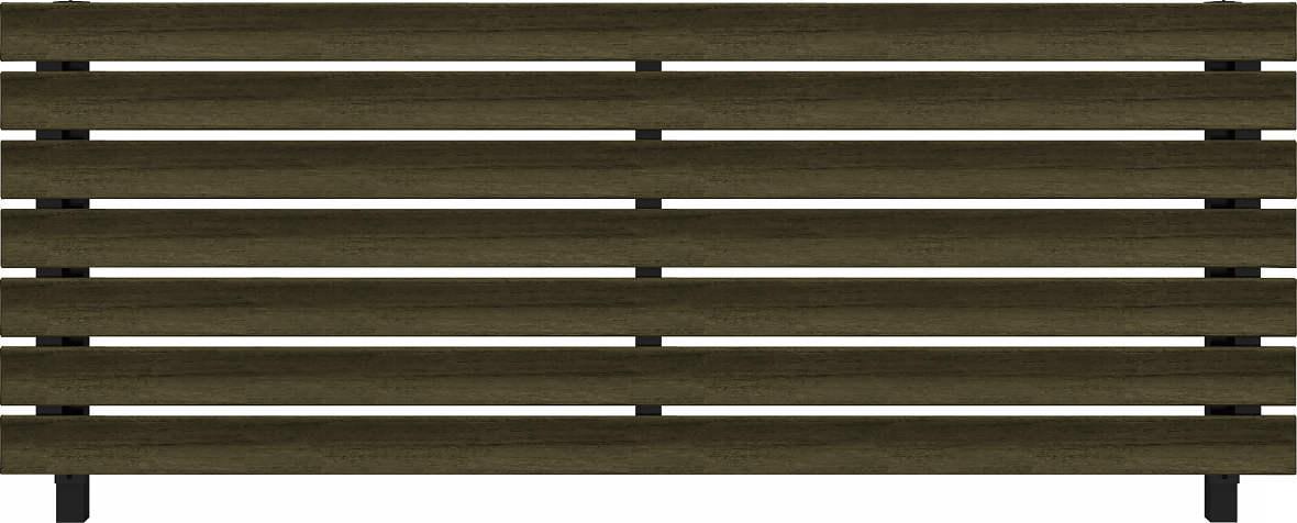 YKKAPガーデンエクステリア フェンス ルシアスフェンス H07型(リブモール) 木調色:[幅1975mm×高1000mm]
