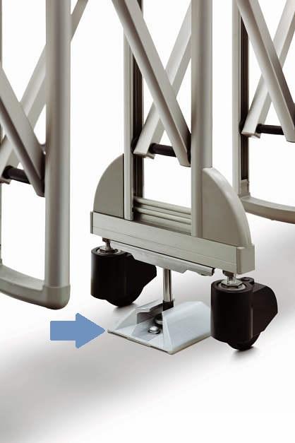 YKKAPオプション ガーデンエクステリア ゲート:転倒防止金具