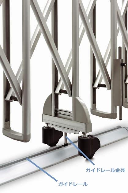 YKKAPオプション ガーデンエクステリア ゲート:ガイドレールセットB22