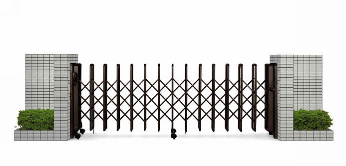 YKKAPガーデンエクステリア ゲート 伸縮ゲート レイオス1型 片開き:[幅2607mm×高1150mm]