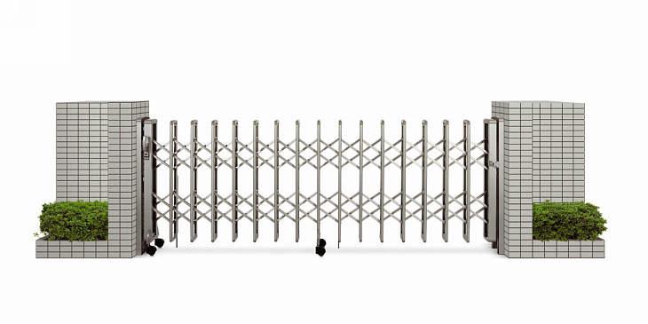 YKKAPガーデンエクステリア ゲート 伸縮ゲート レイオス2型 片開き:[幅5457mm×高1350mm]