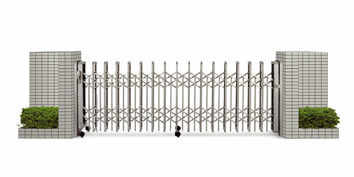 YKKAPガーデンエクステリア ゲート 伸縮ゲート レイオス3型 片開き:[幅1957mm×高1150mm]