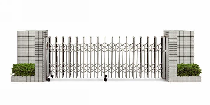 YKKAPガーデンエクステリア ゲート 伸縮ゲート レイオス3型 片開き:[幅3707mm×高1150mm]