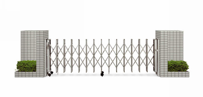 YKKAPガーデンエクステリア ゲート 伸縮ゲート レイオス4型 片開き:[幅2607mm×高1150mm]