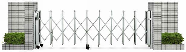 YKKAPガーデンエクステリア ゲート 伸縮ゲート レイオス5型 片開き:[幅3807mm×高1050mm]