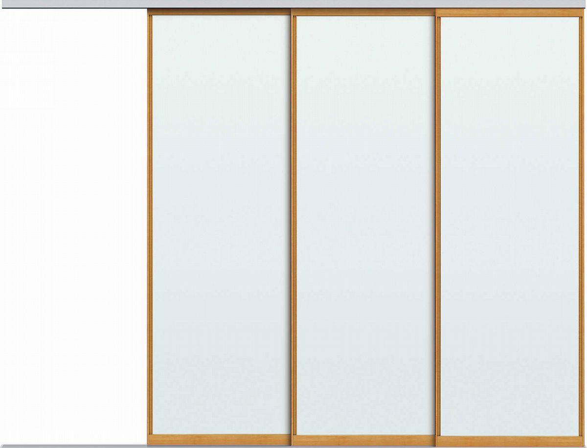 YKKAPアルミインテリア スクリーンパーティション[間仕切] 片引き戸3枚建(アルミ枠) MAタイプ:[幅3455~4000mm×高2443~2732mm]【YKK】【室内インテリア】【サッシ】【片引戸】【室内引き戸】【パーテーション】【パーテイション】【アルミ建具】【バリアフリー】