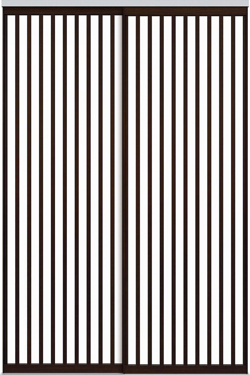 YKKAPアルミインテリア スクリーンパーティション[間仕切] 引違い2枚建(アルミ枠) Jタイプ:[幅1755~2434mm×高2443~2732mm]