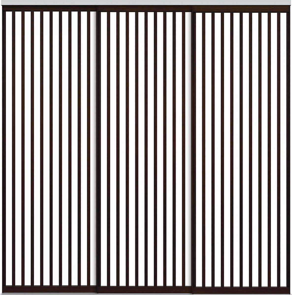 YKKAPアルミインテリア スクリーンパーティション[間仕切] 引違い3枚建(アルミ枠) Jタイプ:[幅1740~2604mm×高2443~2732mm]