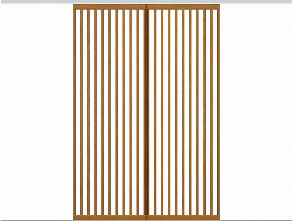 YKKAPアルミインテリア スクリーンパーティション[間仕切] 引分け戸(アルミ枠) Jタイプ:[幅3509~4000mm×高1550~2142mm]
