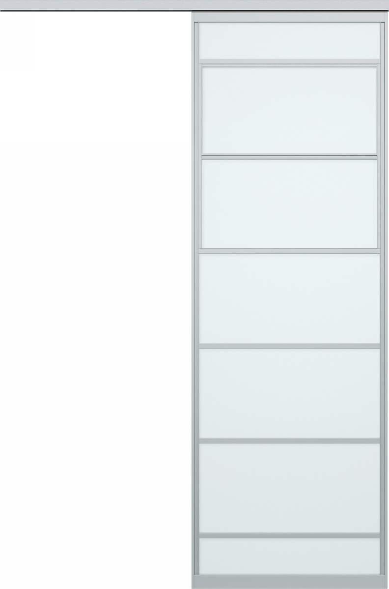 YKKAPアルミインテリア スクリーンパーティション[間仕切] 片引き戸(アルミ枠) Uタイプ:[幅1755~2434mm×高2024~2142mm]【YKK】【室内インテリア】【サッシ】【片引戸】【室内引き戸】【パーテーション】【パーテイション】【アルミ建具】【バリアフリー】