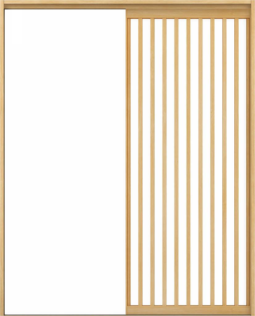 YKKAPアルミインテリア スクリーンパーティション[室内引戸] 片引き戸(木質枠) Jタイプ ノンケーシング枠:[幅1188~2215mm×高1658~2458mm]