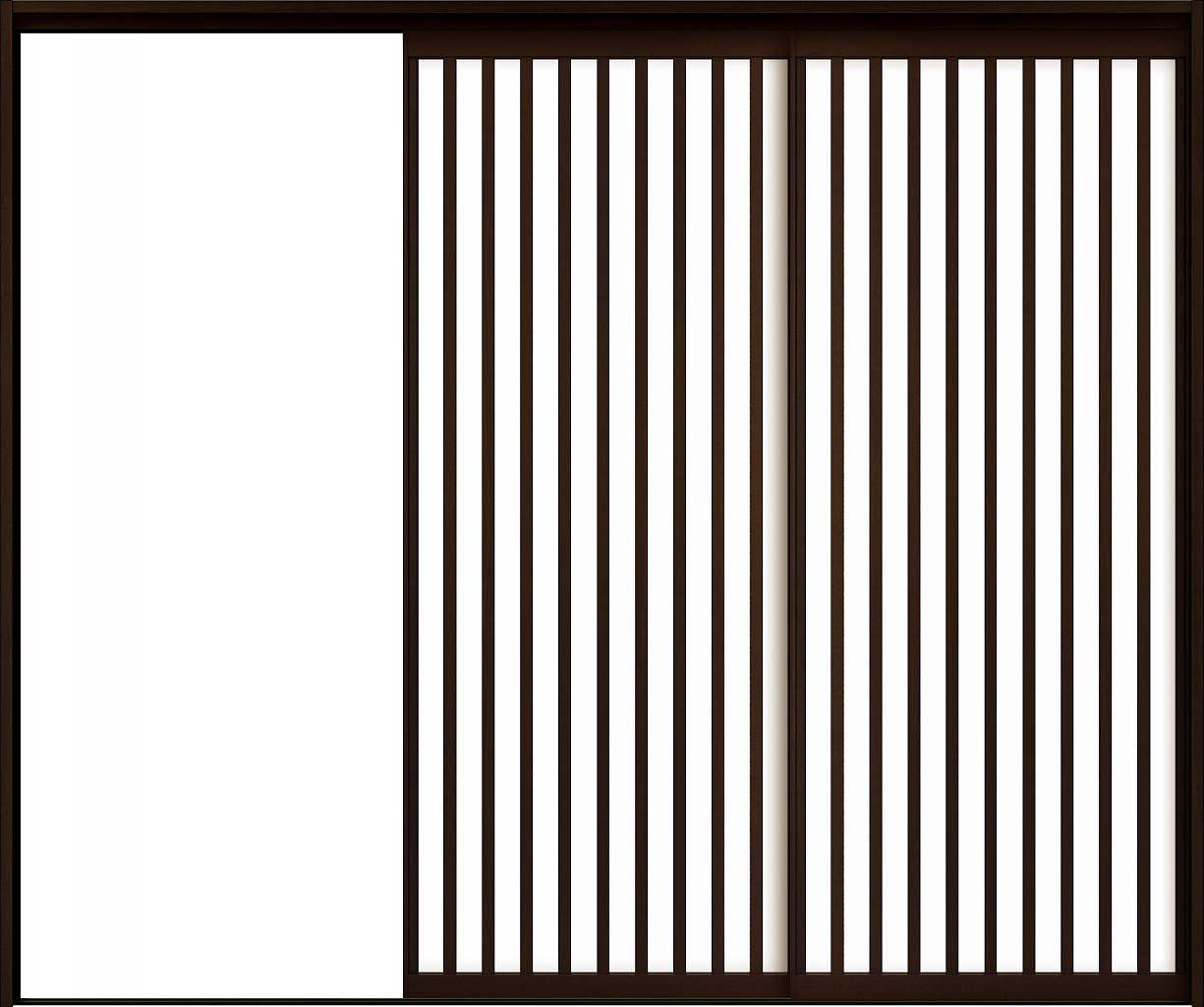 本物品質の YKKAPアルミインテリア スクリーンパーティション[室内引戸] 片引き戸2枚建(木質枠) Jタイプ ケーシング枠:[幅1750~3291mm×高1658~2458mm], 天然素材の家具照明 Wanon a1353e3e