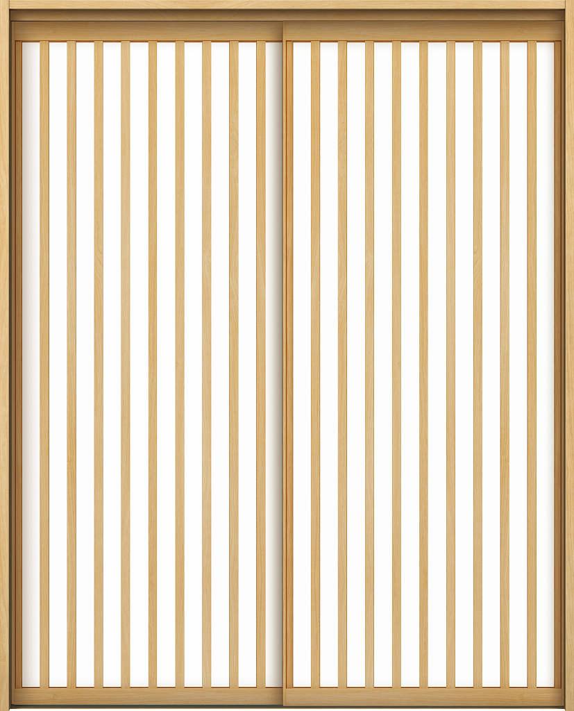 YKKAPアルミインテリア スクリーンパーティション[室内引戸] 引違い戸2枚建(木質枠) Jタイプ ケーシング枠:[幅1188~2215mm×高1658~2458mm]