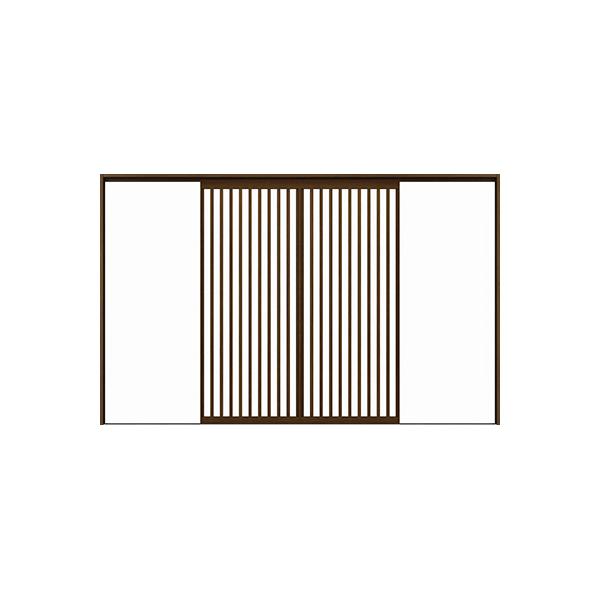 YKKAPアルミインテリア スクリーンパーティション[室内引戸] 引分け戸(木質枠) Jタイプ ケーシング枠:[幅2337~3925mm×高1658~2458mm]