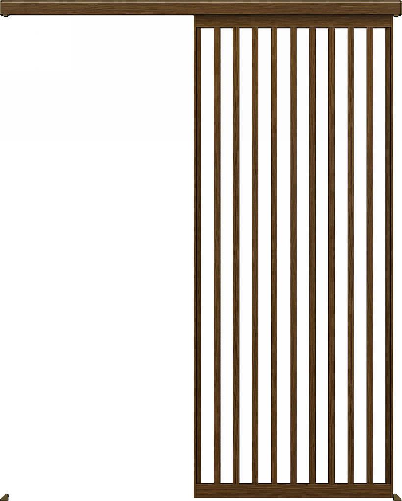 YKKAPアルミインテリア スクリーンパーティション[室内引戸] アウトセット片引き戸 Jタイプ:[幅1819~2498mm×高1979~2101mm]