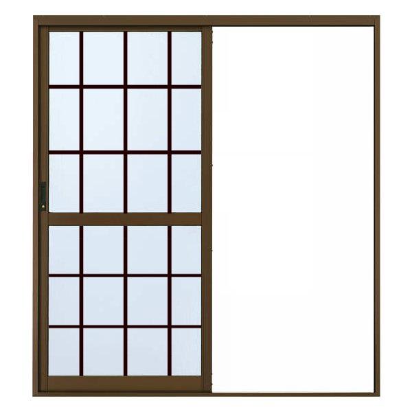 大人気の YKKAP勝手口 内付型[格子付ガラス]:[幅1900mm×高1817mm]:ノース&ウエスト 汎用片引き戸2HH-木材・建築資材・設備
