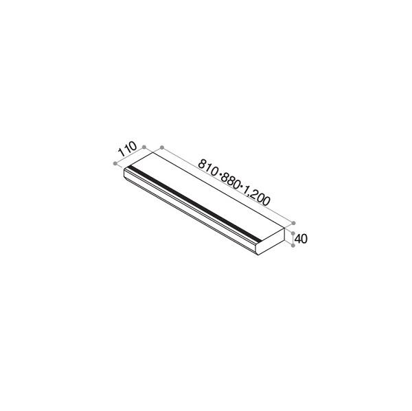 YKKAPアルミインテリア オプション:桁タイプ用上段框 幅:110mm 長さ:1200mm