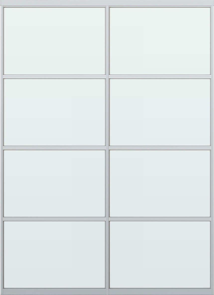 YKKAPアルミインテリア スクリーンパーティション[間仕切] 固定タイプスクリーンデザイン(アルミ枠) 2枚パネル NAタイプ:[幅982~1774mm×高1550~2142mm]【YKK】【室内インテリア】【サッシ】【パーテーション】【パーテイション】【固定間仕切り】【アルミ間仕切】【
